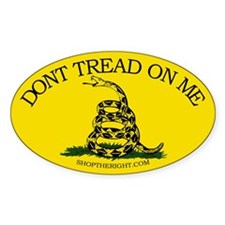 Dont tread on me Oval Decal