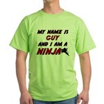 my name is guy and i am a ninja Green T-Shirt