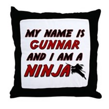 my name is gunnar and i am a ninja Throw Pillow