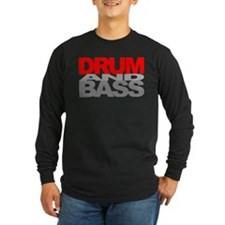 Drum And Bass - Blacked out Long Tee- rEd edition