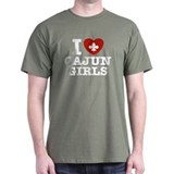 I Love Cajun Girls T-Shirt