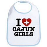 I Love Cajun Girls Bib