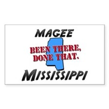 magee mississippi - been there, done that Decal