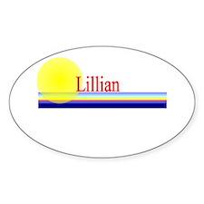 Lillian Oval Decal