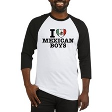 I Love Mexican Boys Baseball Jersey