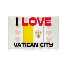 I Love Vatican City Rectangle Magnet