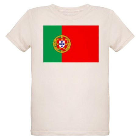 Portuguese Flag of Portugal Organic Kids T-Shirt