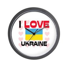 I Love Ukraine Wall Clock