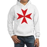 Red Maltese Cross Jumper Hoody