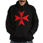Red Maltese Cross Hooded Sweatshirt