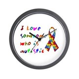 Love Autistic Kids Wall Clock