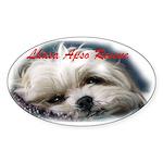 Lhasa Apso Rescue Oval Sticker