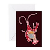 Washboard Crawfish Greeting Card