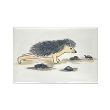 Yoga Hedgehog Plank Pose Rectangle Magnet