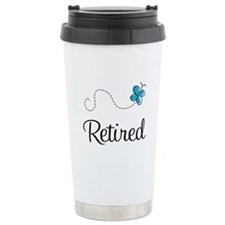 Pretty Retired Retirement Ceramic Travel Mug