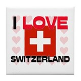 I Love Switzerland Tile Coaster