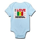 I Love Senegal Infant Bodysuit