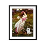 Windflowers / Eskimo Spitz #1 Framed Panel Print
