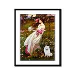 Windflowers / Eskimo Spitz #1 Framed Panel Print
