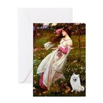 Windflowers / Eskimo Spitz #1 Greeting Card