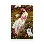 Windflowers / Eskimo Spitz #1 Sticker (Rectangle)