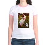 Windflowers / Eskimo Spitz #1 Jr. Ringer T-Shirt