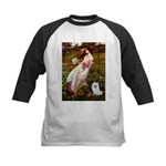 Windflowers / Eskimo Spitz #1 Kids Baseball Jersey