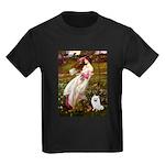 Windflowers / Eskimo Spitz #1 Kids Dark T-Shirt