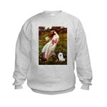 Windflowers / Eskimo Spitz #1 Kids Sweatshirt