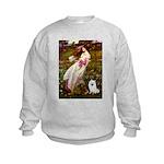 Windflowers / Eskimo Spitz #1 Kids Sweatshirt