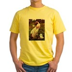 Windflowers / Eskimo Spitz #1 Yellow T-Shirt