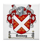 Denney Coat of Arms Tile Coaster