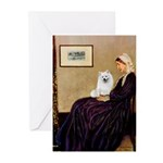 Whistlers / Eskimo Spitz #1 Greeting Cards (Pk of