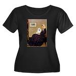 Whistlers / Eskimo Spitz #1 Women's Plus Size Scoo