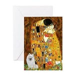Kiss / Eskimo Spitz #1 Greeting Card