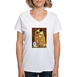 Kiss / Eskimo Spitz #1 Women's V-Neck T-Shirt
