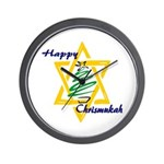 Happy Chrismukah Wall Clock