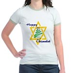 Happy Chrismukah Jr. Ringer T-Shirt