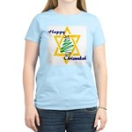 Happy Chrismukah Women's Pink T-Shirt