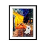 Cafe / Eskimo Spitz #1 Framed Panel Print