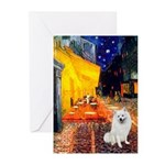 Cafe / Eskimo Spitz #1 Greeting Cards (Pk of 10)