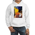 Cafe / Eskimo Spitz #1 Hooded Sweatshirt