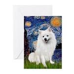 Starry / Eskimo Spitz #1 Greeting Cards (Pk of 20)