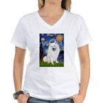 Starry / Eskimo Spitz #1 Women's V-Neck T-Shirt