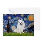 Starry / Eskimo Spitz #1 Greeting Cards (Pk of 10)