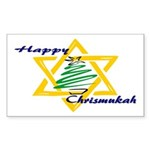 Happy Chrismukah Rectangle Sticker