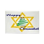 Happy Chrismukah Rectangle Magnet (100 pack)