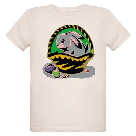 Easter Bunny Basket Organic Kids T-Shirt