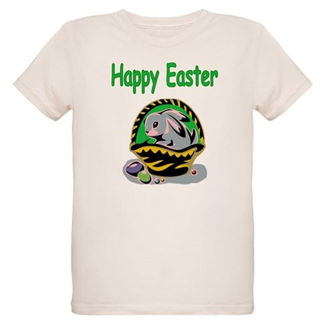 Happy Easter Basket Organic Kids T-Shirt