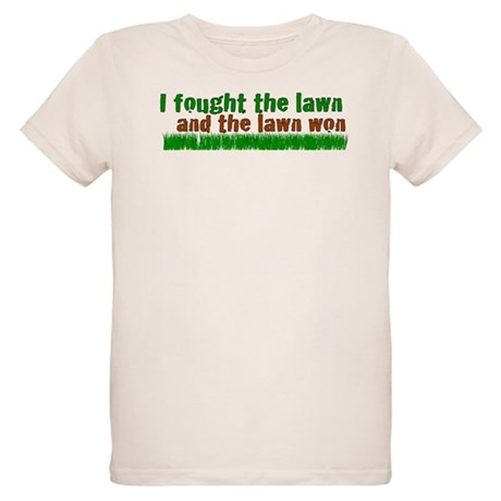I fought the lawn Organic Kids T-Shirt
